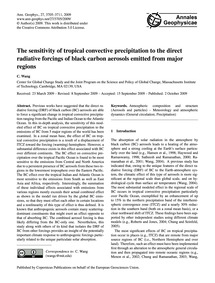 The Sensitivity of Tropical Convective P... by Wang, C.