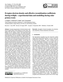 D-region Electron Density and Effective ... by Osepian, A.