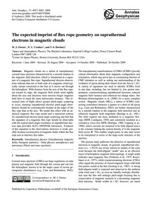 The Expected Imprint of Flux Rope Geomet... by Owens, M. J.