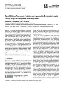 Variabilities of Mesospheric Tides and E... by Sridharan, S.