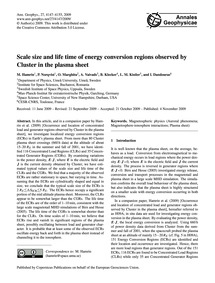 Scale Size and Life Time of Energy Conve... by Hamrin, M.