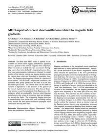 Mhd Aspect of Current Sheet Oscillations... by Erkaev, N. V.