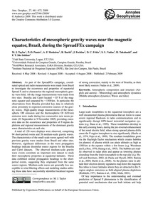 Characteristics of Mesospheric Gravity W... by Taylor, M. J.