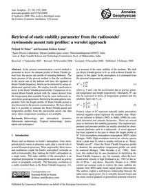 Retrieval of Static Stability Parameter ... by Dolas, Prakash M.