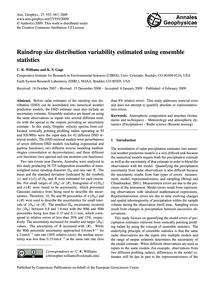 Raindrop Size Distribution Variability E... by Williams, C. R.