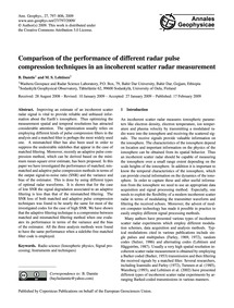 Comparison of the Performance of Differe... by Damtie, B.