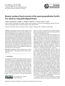Remote Sensing of Local Structure of the... by Miao, B.