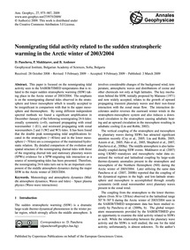 Nonmigrating Tidal Activity Related to t... by Pancheva, D.