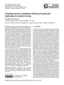 Absorbing Aerosols: Contribution of Biom... by Gadhavi, H.
