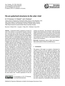 On Arc-polarized Structures in the Solar... by Sonnerup, B. U. Ö.