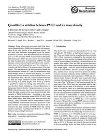 Quantitative Relation Between Pmse and I... by Kirkwood, S.