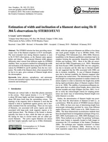 Estimation of Width and Inclination of a... by Gosain, S.
