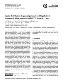 Spatial Distribution of Spectral Paramet... by Yagova, N. V.