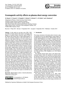 Geomagnetic Activity Effects on Plasma S... by Hamrin, M.