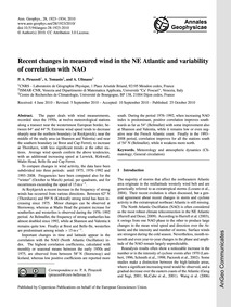 Recent Changes in Measured Wind in the N... by Pirazzoli, P. A.