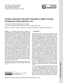 Tropical Connection to the Polar Stratos... by Vineeth, C.