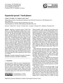 Equatorial Spread F Fossil Plumes : Volu... by Krall, J.