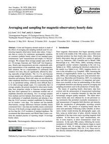 Averaging and Sampling for Magnetic-obse... by Love, J. J.