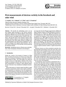 First Measurements of Electron Vorticity... by Gurgiolo, C.