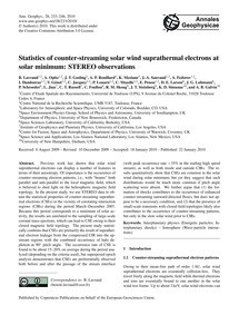 Statistics of Counter-streaming Solar Wi... by Lavraud, B.