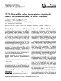 Epsat-sg: a Satellite Method for Precipi... by Bergès, J. C.