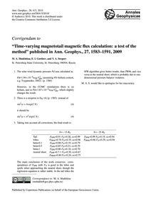 Corrigendum to Time-varying Magnetotail ... by Shukhtina, M. A.