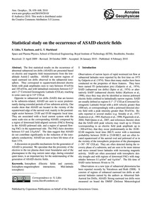 Statistical Study on the Occurrence of A... by Liléo, S.