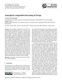 Atmospheric Composition Forecasting in E... by Menut, L.