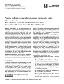Auroral and Sub-auroral Phenomena: an El... by De Keyser, J.