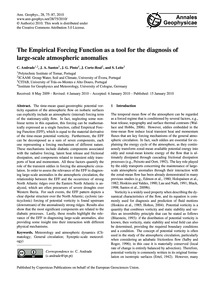 The Empirical Forcing Function as a Tool... by Andrade, C.
