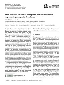 Time Delay and Duration of Ionospheric T... by Liu, J.