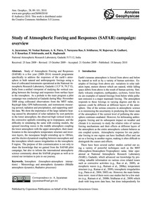 Study of Atmospheric Forcing and Respons... by Jayaraman, A.
