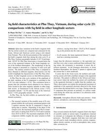 Sq Field Characteristics at Phu Thuy, Vi... by Pham Thi Thu, H.