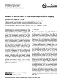 The Role of the Bow Shock in Solar Wind-... by Lopez, R. E.