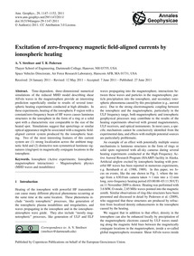 Excitation of Zero-frequency Magnetic Fi... by Streltsov, A. V.