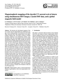Magnetospheric Mapping of the Dayside Uv... by Belenkaya, E. S.