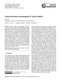 Long-term Biases in Geomagnetic K and Aa... by Love, J. J.
