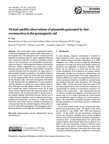 Virtual Satellite Observations of Plasmo... by Ugai, M.