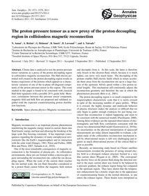 The Proton Pressure Tensor as a New Prox... by Aunai, N.