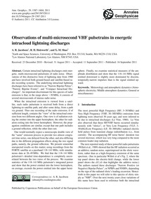 Observations of Multi-microsecond Vhf Pu... by Jacobson, A. R.