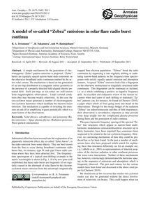A Model of So-called Zebra Emissions in ... by Treumann, R. A.