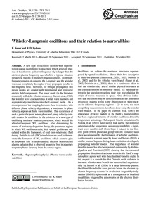 Whistler-langmuir Oscillitons and Their ... by Sauer, K.