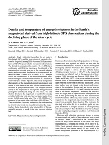 Density and Temperature of Energetic Ele... by Denton, M. H.