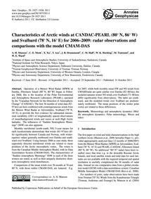Characteristics of Arctic Winds at Canda... by Manson, A. H.