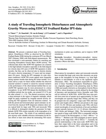 A Study of Traveling Ionospheric Disturb... by Vlasov, A.