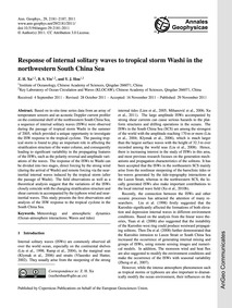 Response of Internal Solitary Waves to T... by Xu, Z. H.