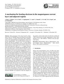A Mechanism for Heating Electrons in the... by Roux, A.