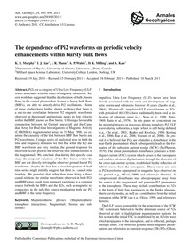 The Dependence of Pi2 Waveforms on Perio... by Murphy, K. R.