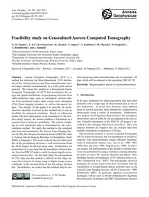 Feasibility Study on Generalized-aurora ... by Tanaka, Y.-m.
