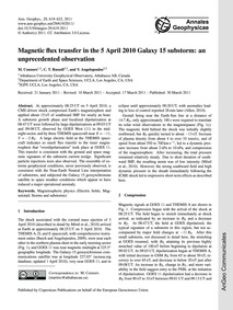 Magnetic Flux Transfer in the 5 April 20... by Connors, M.